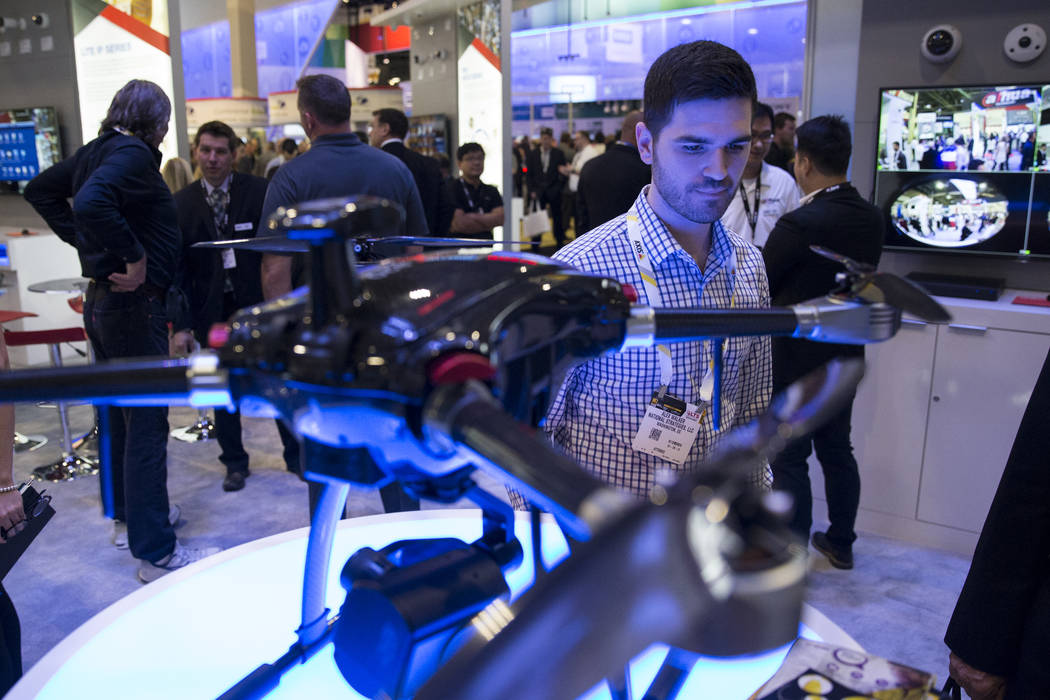 Alex Walker of Washington, D.C., attends the International Security Conference & Exposition at the Sands Expo on Wednesday, April 5, 2017, in Las Vegas. Erik Verduzco Las Vegas Review-Journal  ...