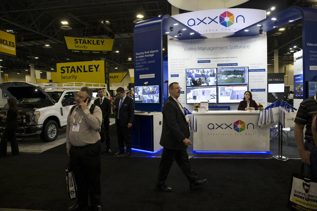 Attendees at the International Security Conference & Exposition at the Sands Expo on Wednesday, April 5, 2017, in Las Vegas. Erik Verduzco Las Vegas Review-Journal Follow @Erik_Verduzco