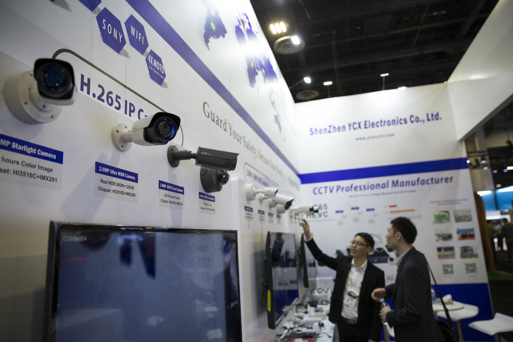 Security cameras on display during the International Security Conference & Exposition at the Sands Expo on Wednesday, April 5, 2017, in Las Vegas. Erik Verduzco Las Vegas Review-Journal Follow ...