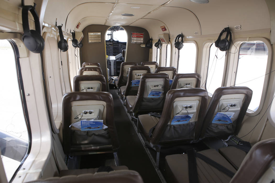 The inside of a plane at the Boulder City Municipal Airport on Wednesday, April 5, 2017, in Boulder City, Nevada. Grand Canyon Scenic Airlines pilots will have the opportunity to join Allegiant Ai ...