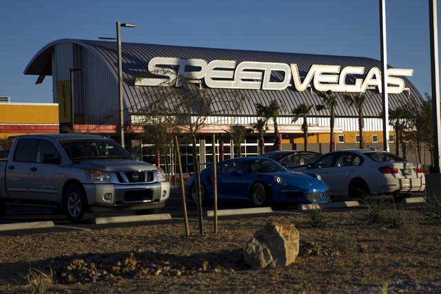 SpeedVegas opened again since a fiery crash killed two people Feb. 12, Thursday, Feb. 23, 2017, in Las Vegas. (Erik Verduzco/Las Vegas Review-Journal) @Erik_Verduzco