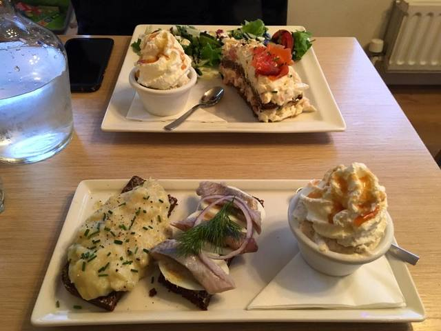 Cafe Loki in Reykjavik serves authentic Iceland fare including toasts topped with warm fish spread, toast topped with pickled herring and onion and rye bread ice cream. (Janna Karel/Las Vegas Revi ...