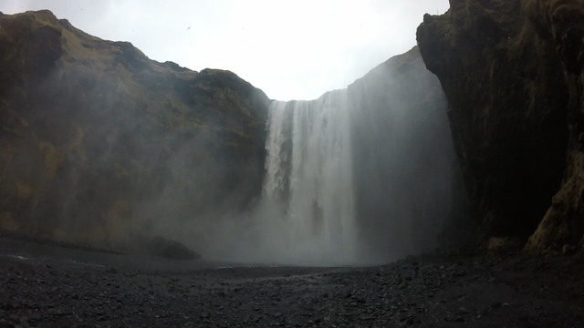 Skógafoss Waterfall in south Iceland. (Janna Karel/Las Vegas Review-Journal)