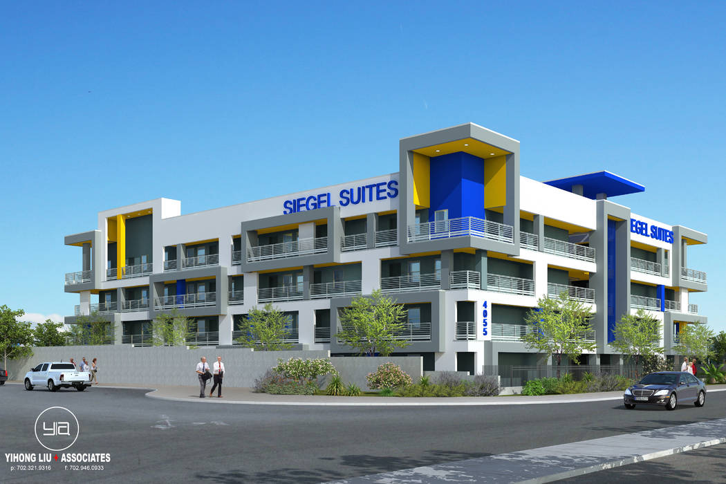 The Siegel Group is starting construction of its first newly built Siegel Suites rental property on Swenson Street at Flamingo Road. (The Siegel Group)