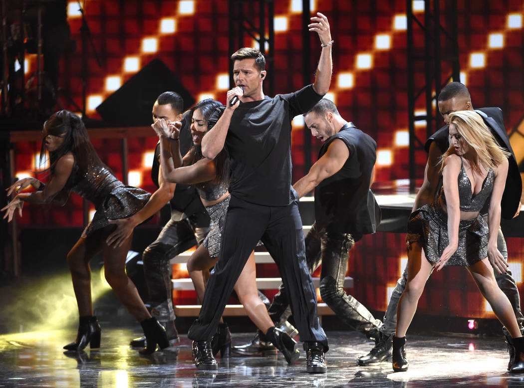 Ricky Martin performs at the 16th annual Latin Grammy Awards at the MGM Grand Garden Arena on Thursday, Nov. 19, 2015, in Las Vegas. (Photo by Chris Pizzello]/Invision/AP)