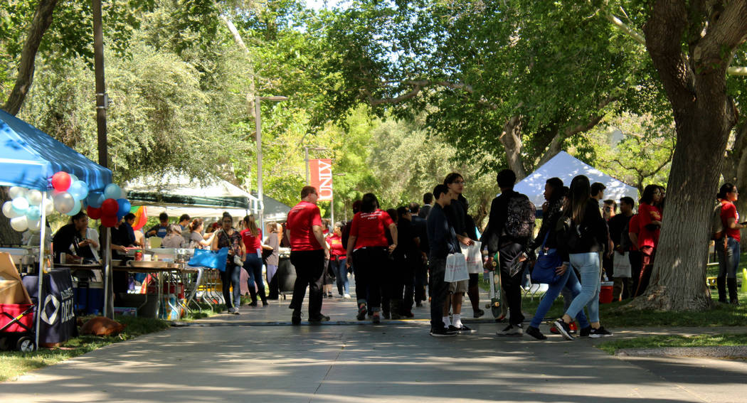 Attendees during the Festival of Communities at UNLV, Saturday, April 1, 2017. (Gabriella Benavidez Las Vegas Review-Journal) @gabbydeebee