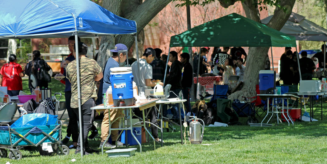 Vendors offering food and drinks during the Festival of Communities at UNLV, Saturday, April 1, 2017. (Gabriella Benavidez Las Vegas Review-Journal) @gabbydeebee
