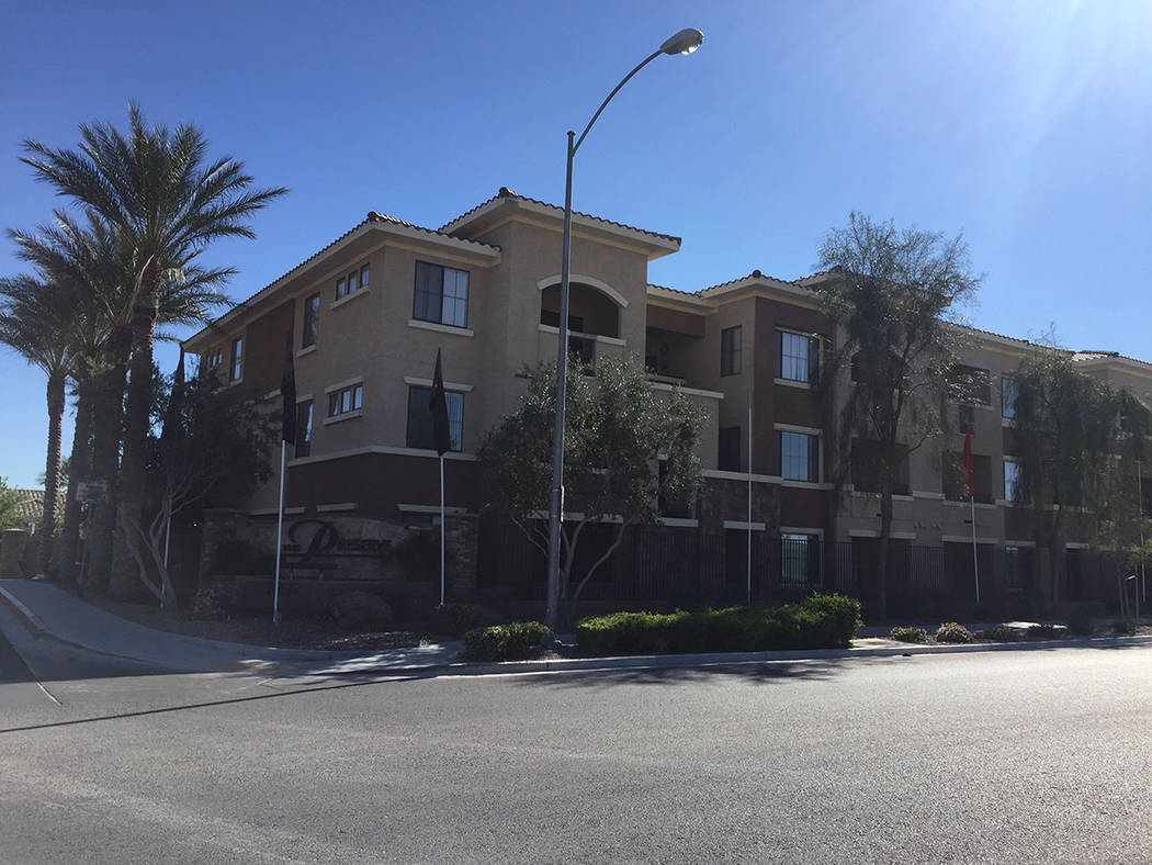 The Preserve apartment complex, 2655 E. Deer Springs Way, is seen Sunday, April 2, 2017. (Blake Apgar/Las Vegas Review-Journal)