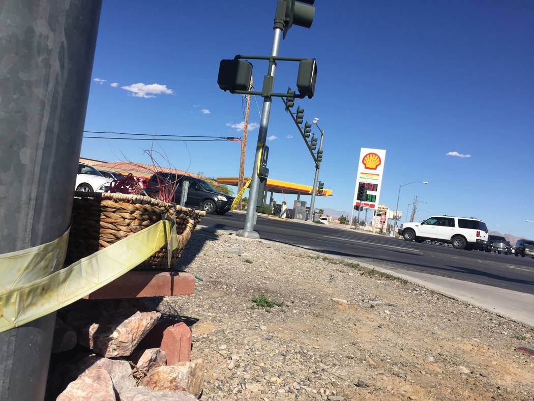 A view of the corner of North Fifth Street and Craig Road in North Las Vegas on April 2, 2017. North Las Vegas police said a car carrying a wounded 1-year-old baby and wounded male passenger crash ...