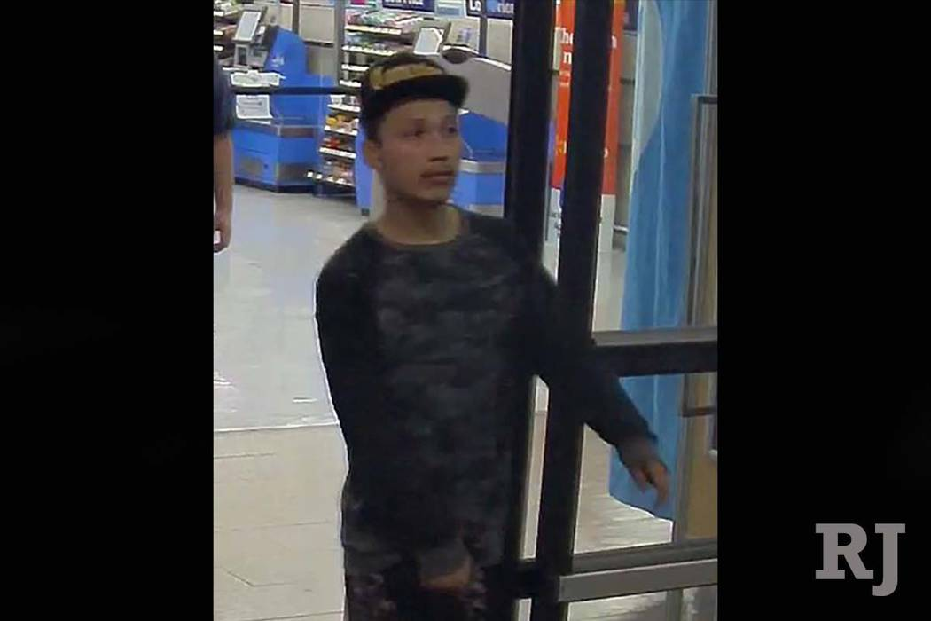 Police are looking for three men who tried to rob a Wal-Mart store in east Las Vegas in March. (Las Vegas Metropolitan Police Department)