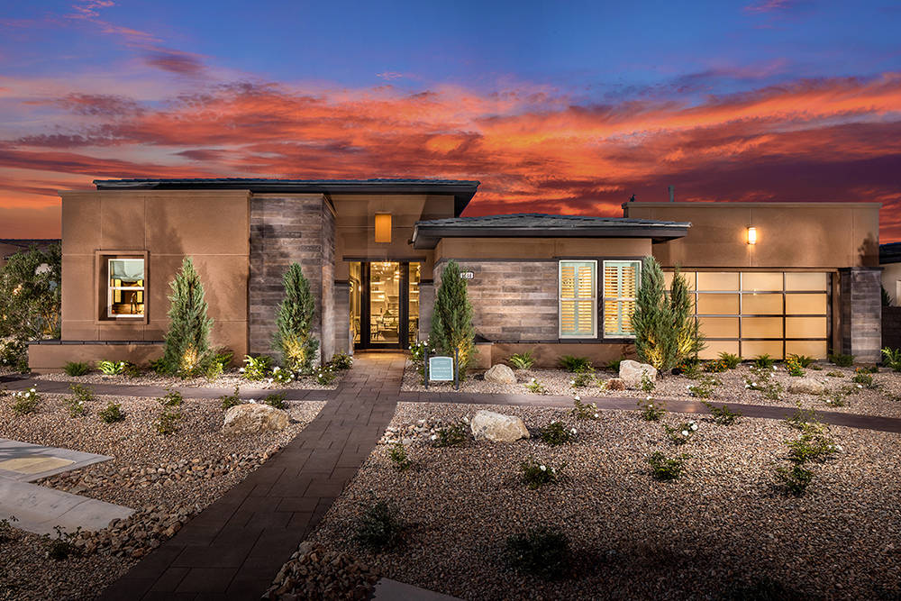 TOLL BROTHERS  Toll Brothers won a Silver Nugget Award for best age-restricted model with its Marble Bluff home in its Regency at Summerlin community, which opened in April 2016.