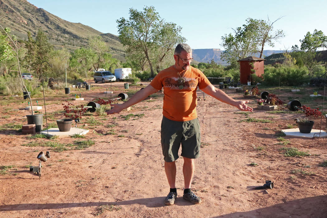 Brent Fitzpatrick surveys his property, Thursday, April, 13, 2017. Fitzpatrick owns a piece of land located west of Zion National Park. Gabriella Benavidez Las Vegas Review-Journal @gabbydeebee
