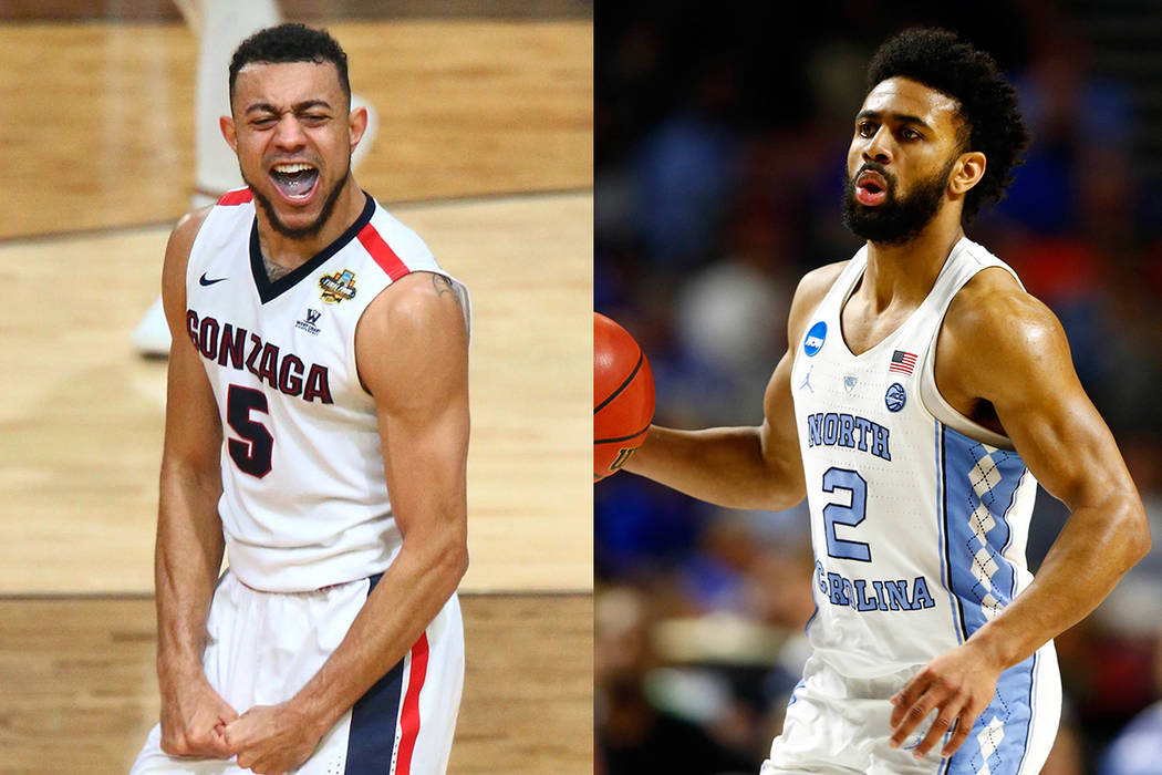 Gonzaga guard Nigel Williams-Goss (left), North Carolina guard Joel Berry (right). (USA Today Sports/File)