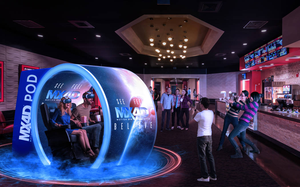 The MX4D VR pod system is designed for theater lobbies. (Courtesy)