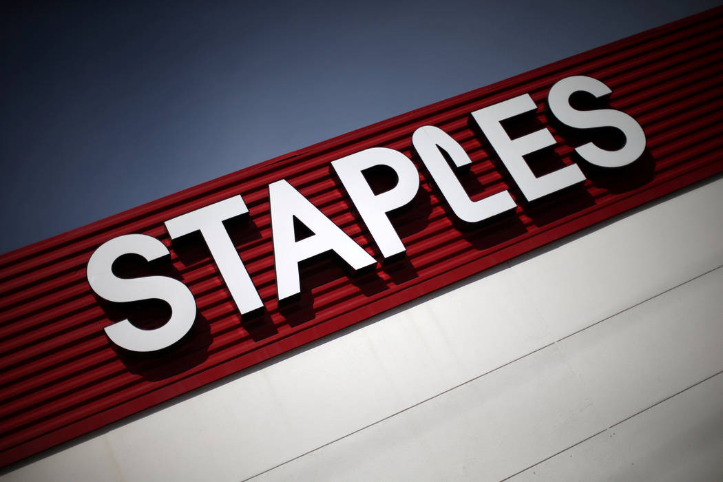 A Staples store is seen in Los Angeles, California, U.S., March 7, 2017. (Lucy Nicholson/Reuters)