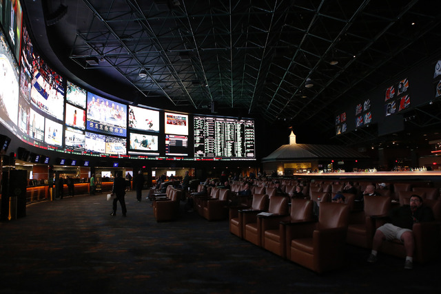 Westgate sports book on Thursday, Jan. 26, 2017, in Las Vegas. The sports book posted nearly 400 Super Bowl prop bets. (Christian K. Lee/Las Vegas Review-Journal) @chrisklee_jpeg