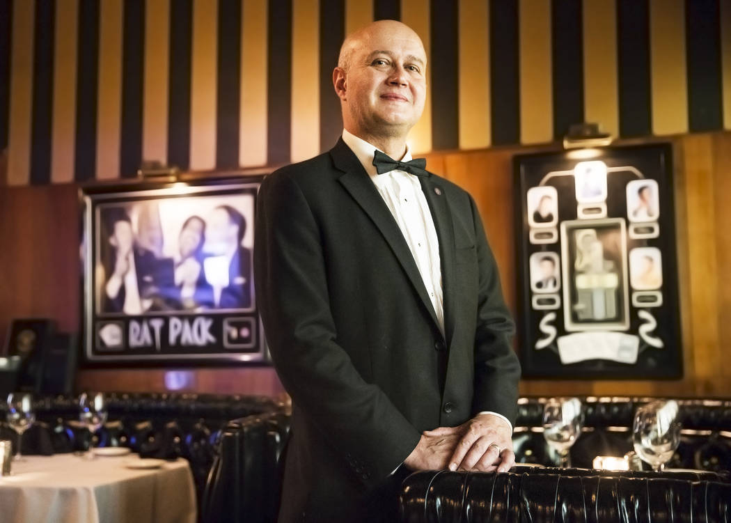 Sommelier Leo Teodorescu at the Golden Steer Steakhouse on Wednesday, April, 5, 2017, in Las Vegas. Benjamin Hager Las Vegas Review-Journal @benjaminhphoto