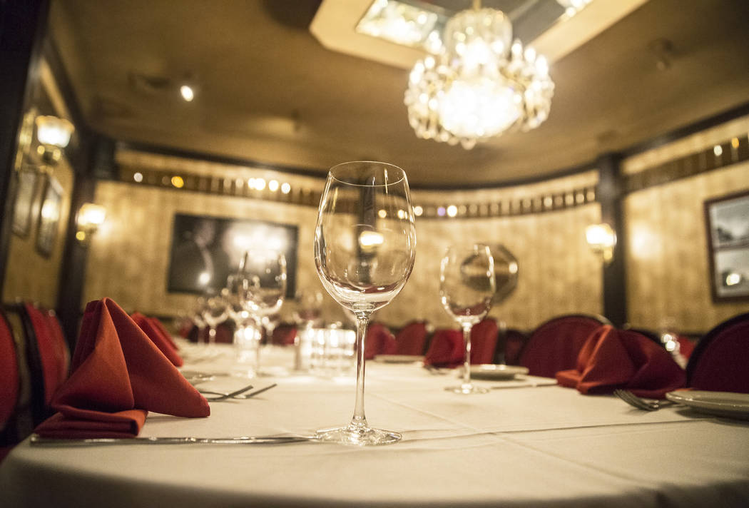 The dinning area at the Golden Steer Steakhouse on Wednesday, April, 5, 2017, in Las Vegas. Benjamin Hager Las Vegas Review-Journal @benjaminhphoto