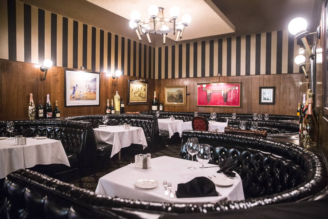 The dinning area at the Golden Steer Steakhouse on Wednesday, April, 5, 2017, in Las Vegas. Benjamin Hager Las Vegas Review-Journal @benjaminhphoto