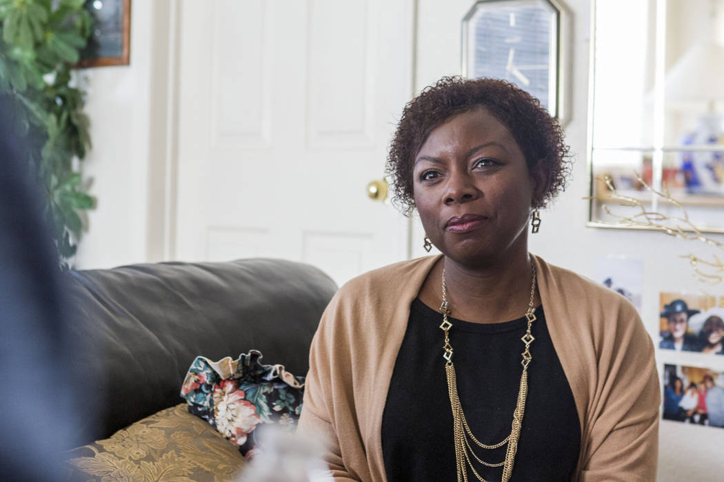 Nakeisha Curry, associate medical director of house calls for Healthcare Partners of Nevada, in client Roosevelt Bennett's home in Henderson, Wednesday, April 5, 2017. (Elizabeth Brumley Las Vegas ...