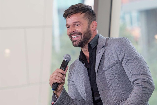 Ricky Martin appears at the under-construction Park Theater at Monte Carlo on Wednesday, Nov. 16, 2016, in Las Vegas. (Tom Donoghue)
