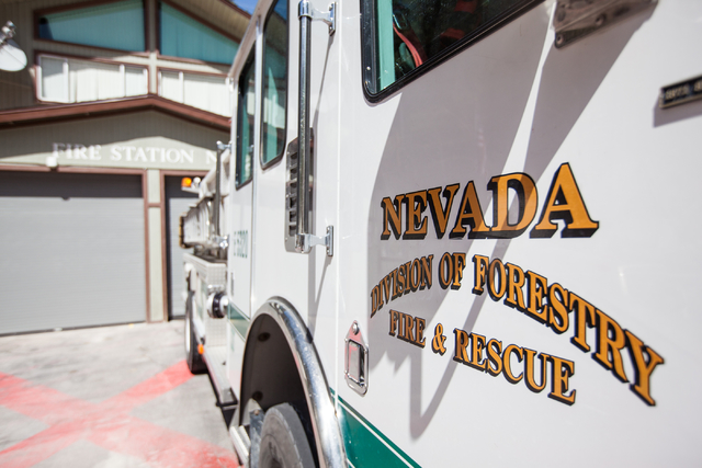 A Nevada Division of Forestry fire engine in seen in this file photo. (Chase Stevens/Las Vegas Review-Journal)