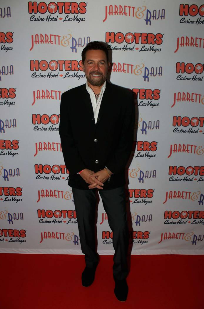 "Clint Holmes attends opening night of Jarrett & Raja's ""Magician vs. Maestro"" at Hooters Casino on Monday, April 3, 2017, in Las Vegas. (Ira Kuzma)"