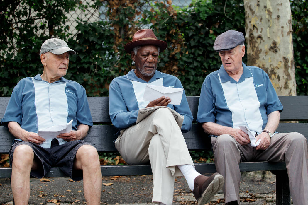 "Alan Arkin as Albert Garner, Morgan Freeman as Willie Davis and Michael Caineas Joe Harding in the New Line Cinema and Village Roadshow comedy ""Going in Style,"" (Atsushi Nishijima/ Warner Bros. Pi ..."