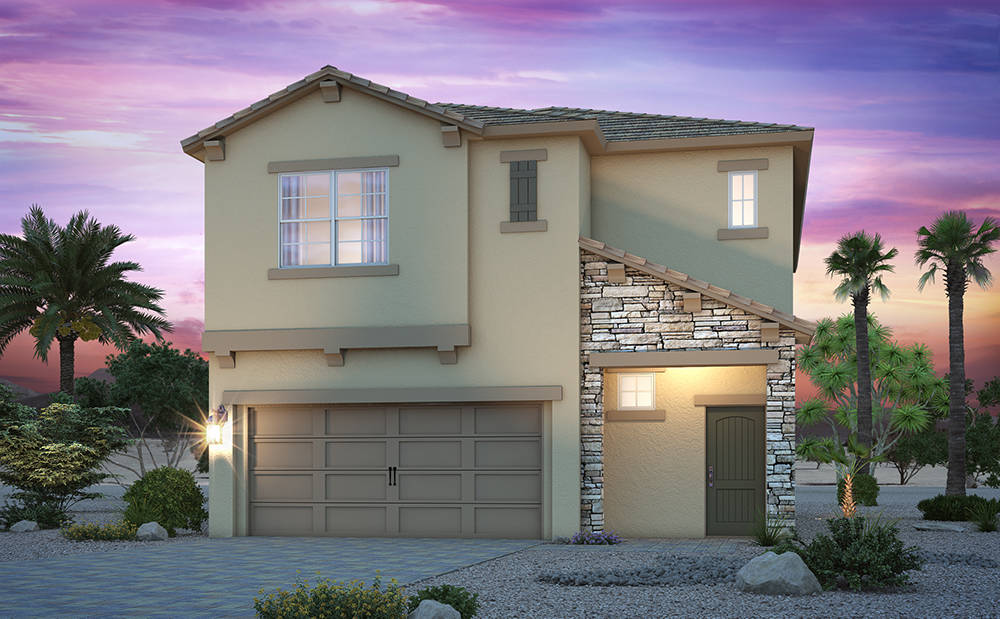 Vista Pines at Mountain's Edge features a 1,996-square-foot two-story model home with up to four bedrooms. (Courtesy)