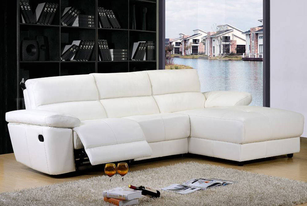 DeLandis This sectional from DeLandis' Orvieto Collection adds a luxurious feel to any living room it's set in.