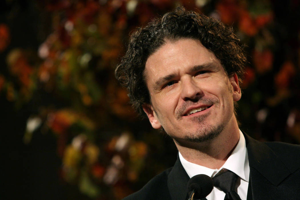 FILE - In this Wednesday, Nov. 18, 2009, file photo, Dave Eggers speaks after being presented with the Literarian Award for Outstanding Service to the American Literary Community at the National B ...