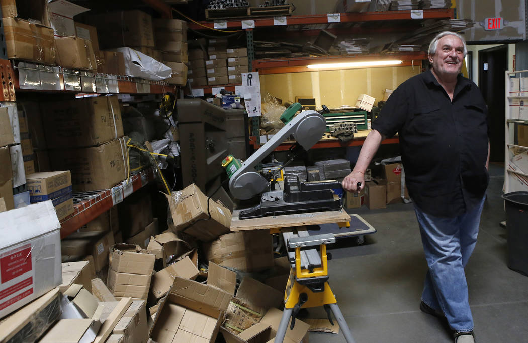 Thomas Gleason, 70, inside of his warehouse on Thursday, April 6, 2017, in North Las Vegas. Gleason says he submitted a bid to build President Donald Trump's proposed border wall with Mexico. Chri ...