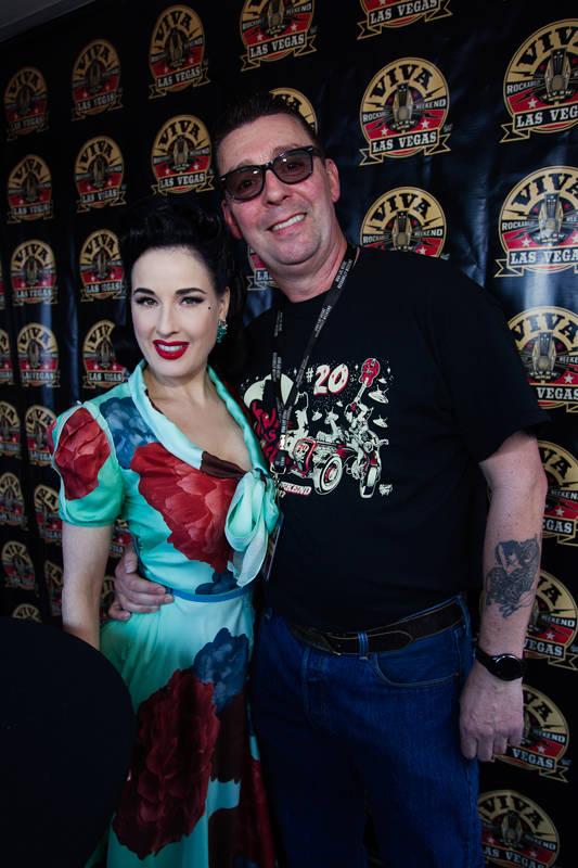 xxx Tom Ingram, organizer of Viva Las Vegas Rockabilly Weekender and dita von tease
