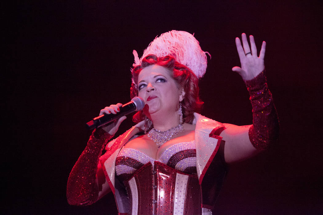 Cora Vette MC's the burlesque show at the 19th Annual Viva Las Vegas Rockabilly Weekender at the Orleans Hotel and Casino on Friday, April 15, 2016. (Michael Quine/Las Vegas Review-Journal) ...