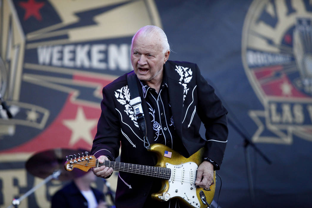 Guitar legend, Dick Dale, performs at the 19th Annual Viva Las Vegas Rockabilly Weekender at the Orleans Hotel and Casino on Saturday, April 16, 2016. (Michael Quine/Las Vegas Review-Journal) Foll ...