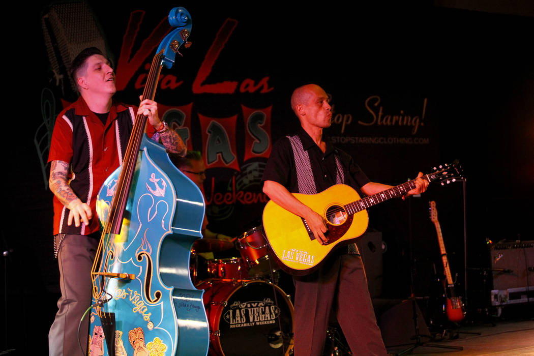 Lil' Sal and the Wildtones from Amsterdam, Netherlands, perform at the 19th Annual Viva Las Vegas Rockabilly Weekender at the Orleans Hotel and Casino on Saturday, April 16, 2016. (Michael Quine/L ...