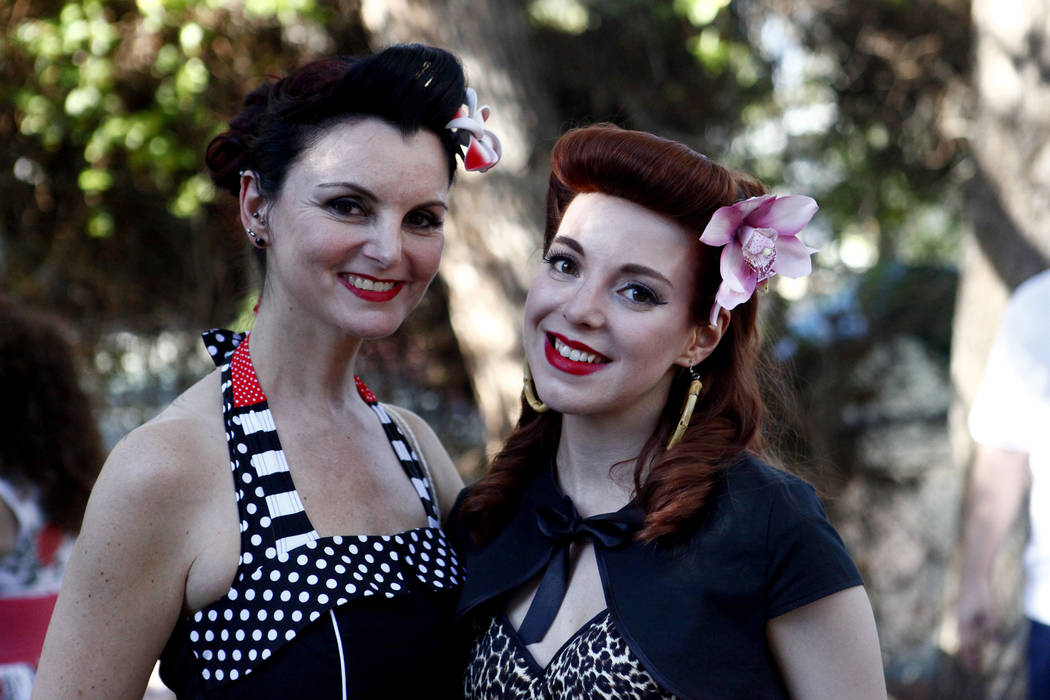 Djamila Bousenou and Rina Bambina from Germany attend Ronny Weiser's Rockabilly Weekender Meet and Greet on Wednesday April 13, 2016. (Michael Quine/Las Vegas Review-Journal) Follow @Vegas88s