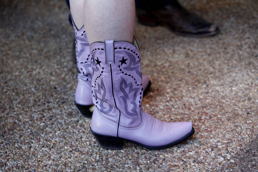 Lavender boots make up some of the fashion seen at Ronny Weiser's Rockabilly Weekender Meet and Greet on Wednesday April 13, 2016. (Michael Quine/Las Vegas Review-Journal) Follow @Vegas88s