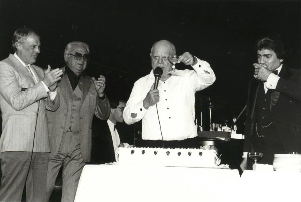 Don Ricolse farewell party at the Sahara in 1987. (Las Vega News Bureau)