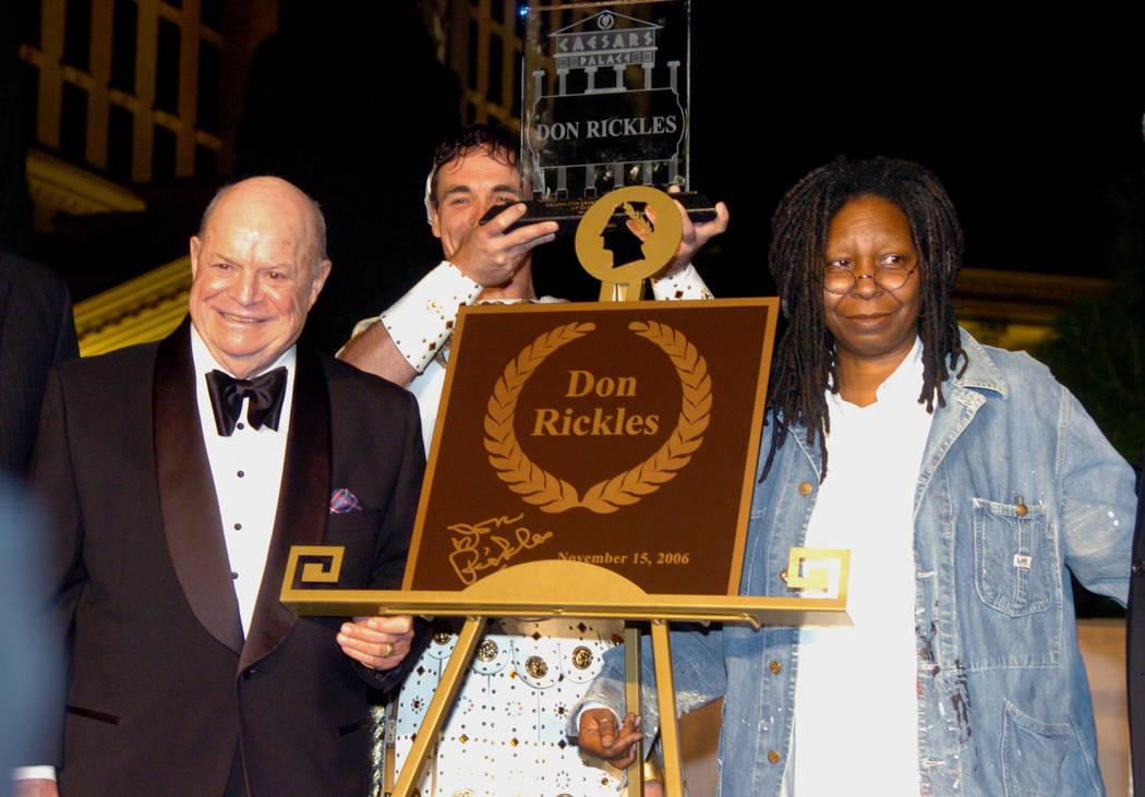 Don Rickles and Whoopi Goldberg Caesars Palace Walk of fame ceremony on November 15, 2006. (Las Vegas News Bureau)