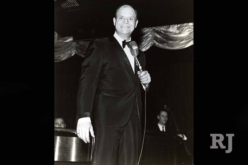 Comedian Don Rickles performs at the Sahara in Las Vegas on April 20, 1965. (Courtesy)