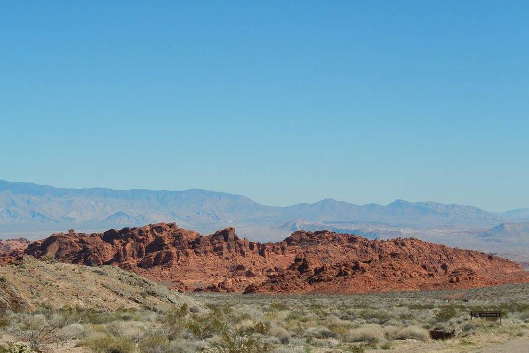 Valley of Fire state park seen on February 15, 2015. (Rochelle Richards/Las Vegas Review-Journal)