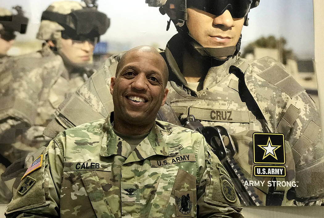 Col. Earl Caleb commands the Army's 6th Recruiting Brigade in North Las Vegas. He spoke about the brigade's mission April 4, 2017. Keith Rogers Las Vegas Review-Journal