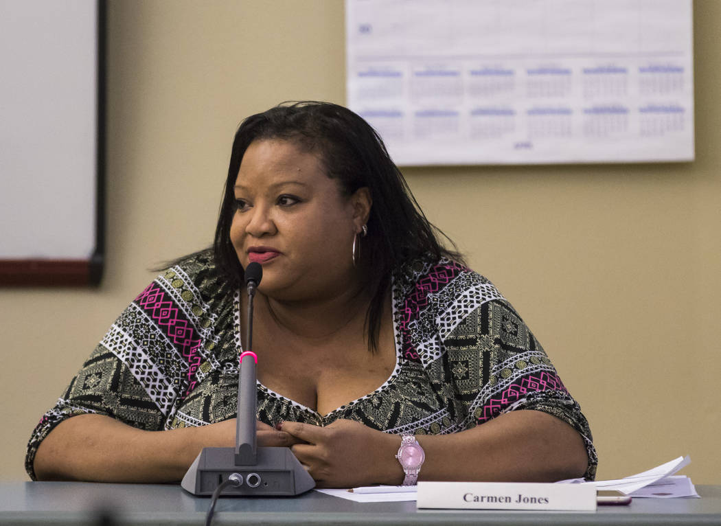 Dr. Carmen Jones during a meeting for Clark Countyճ Green Ribbon Panel at the Clark County Department of Building and Fire Prevention in Henderson on Friday, April 7, 2017. Miranda Alam Las  ...
