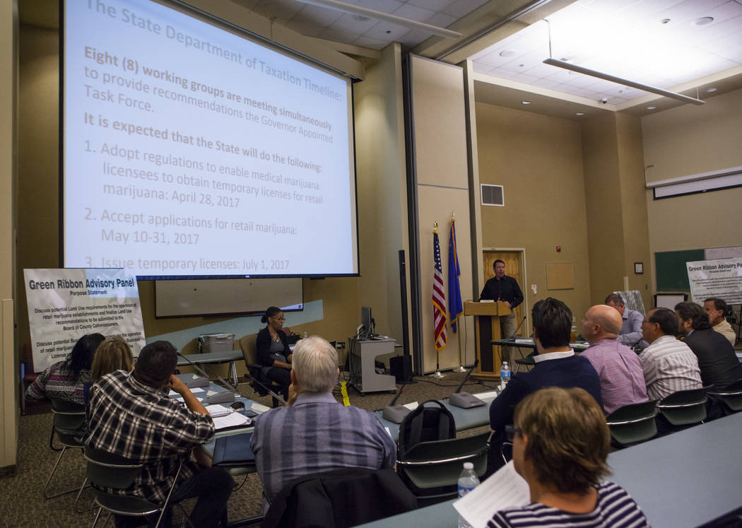 A meeting for Clark Countyճ Green Ribbon Panel at the Clark County Department of Building and Fire Prevention in Henderson on Friday, April 7, 2017. Miranda Alam Las Vegas Review-Journal @mi ...