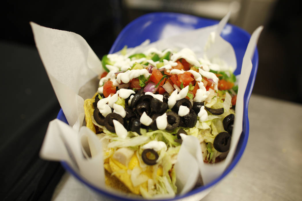 Nachos that will be sold under the new concessionaire, Centerplate, on Monday, April 10, 2017, at Cashman Field in Las Vegas. Rachel Aston Las Vegas Review Journal @rookie__rae