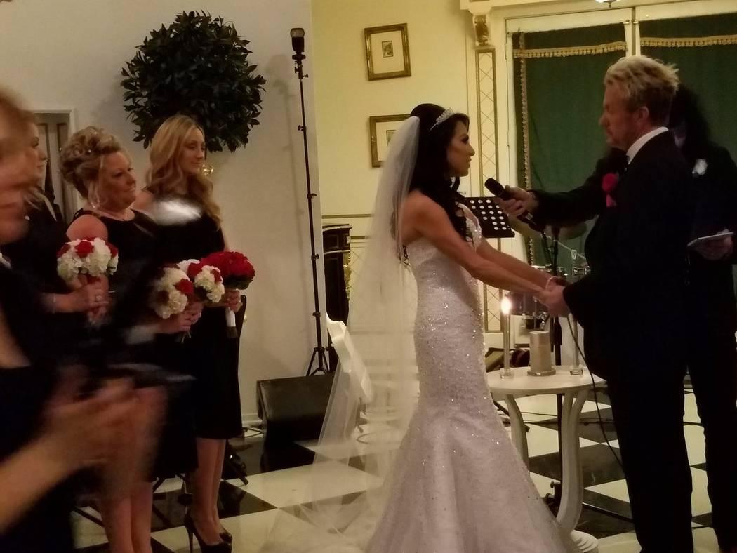 The wedding of Chris Phillips and Jennifer Turco. (TVT)