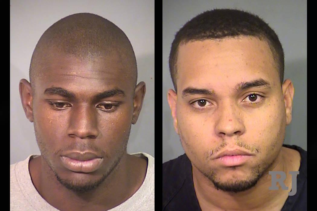 Steven Burks, left, and Pierre Devlin (Las Vegas Metropolitan Police Department)