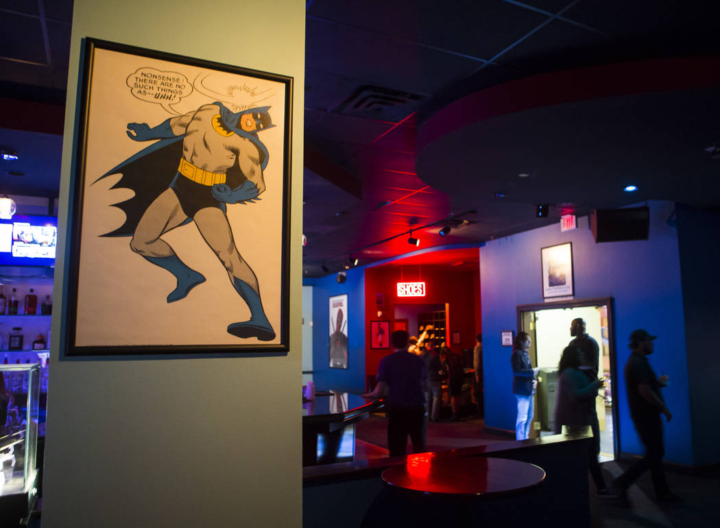 The interior at The Nerd nightclub at Neonopolis in downtown Las Vegas on Saturday, April 8, 2017. Chase Stevens View @csstevensphoto