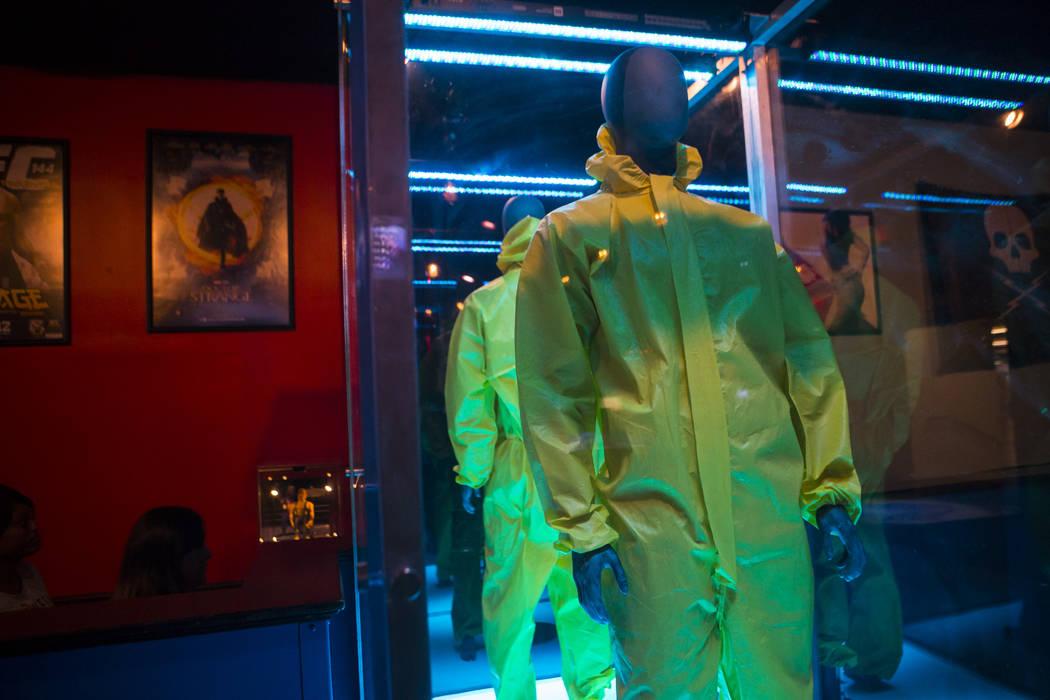 "A hazmat suit as depicted in ""Breaking Bad"" at The Nerd nightclub at Neonopolis in downtown Las Vegas on Saturday, April 8, 2017. Chase Stevens View @csstevensphoto"